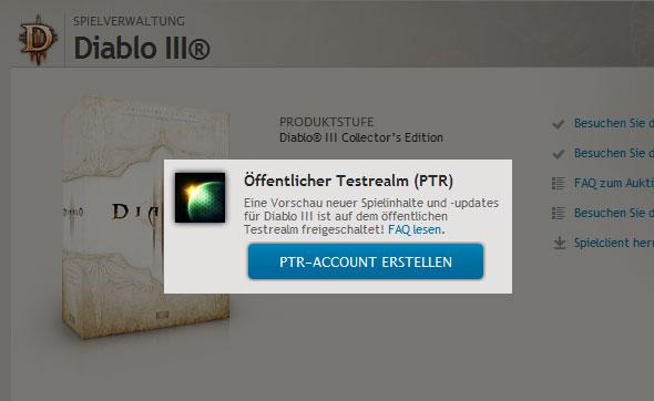 Diablo 3 PTR-Client