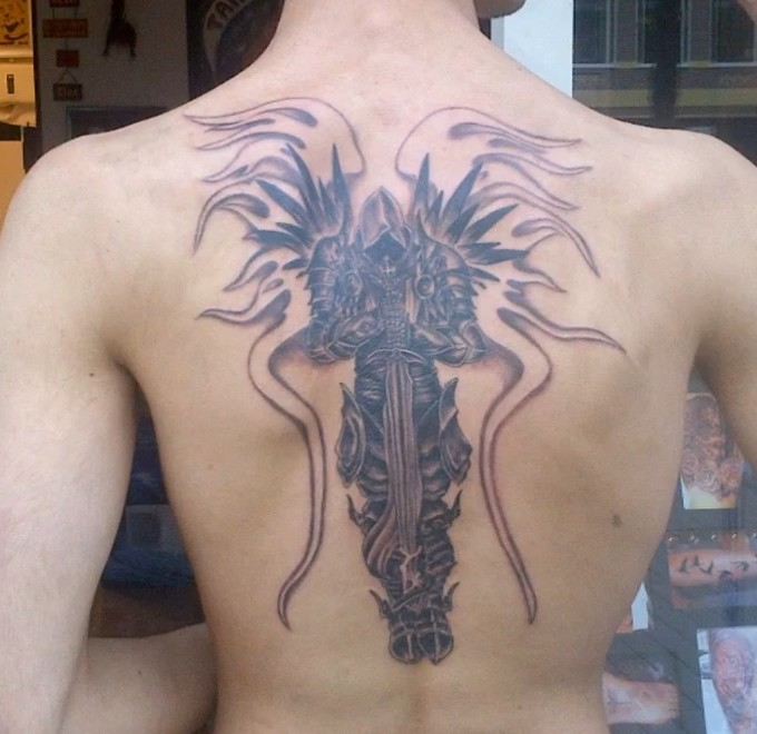 Korperschmuck Tyrael Aus Diablo 3 Als Tattoo Vorlage Diablo 3 Net
