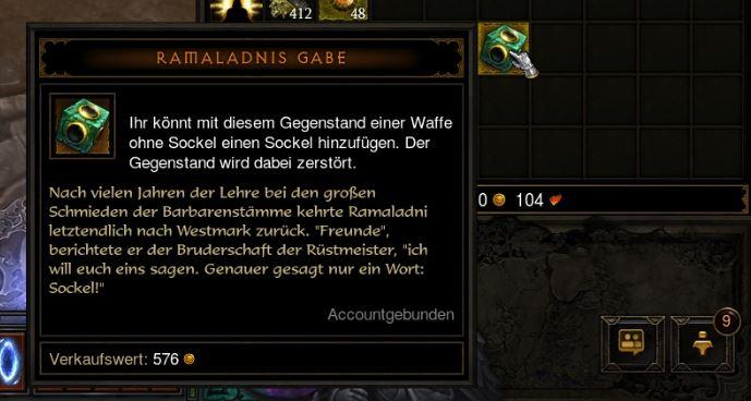 Ramaladnis Gabe: Dropt in Diablo 3 nur ab Qual 1 und ist sehr ...