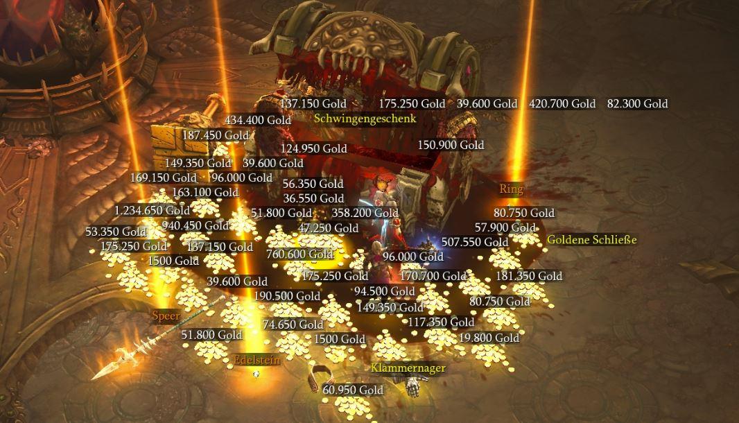 Gold im Diablo 3 Goblin-Level Reich der Schätze