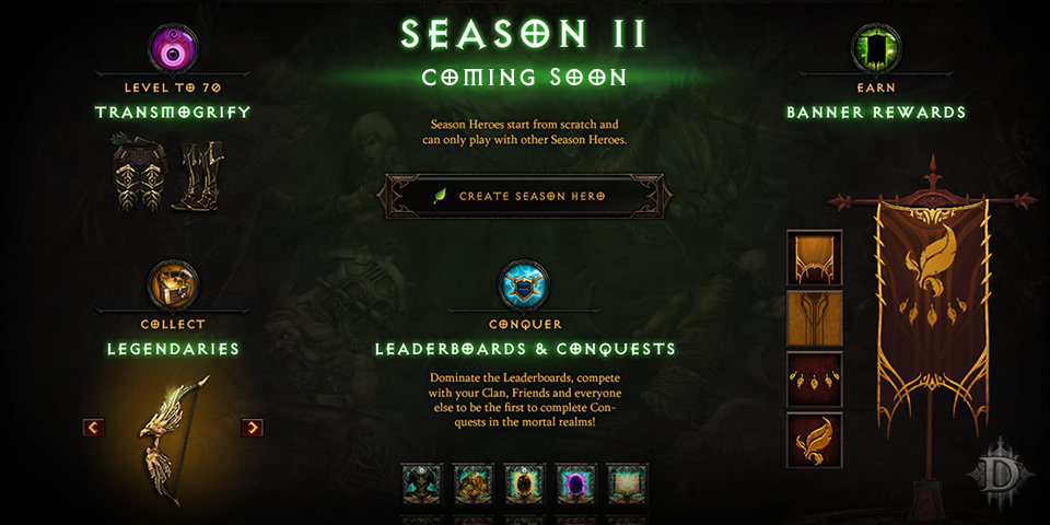 Diablo 3 Season 11 Start, Decks Belohnungen