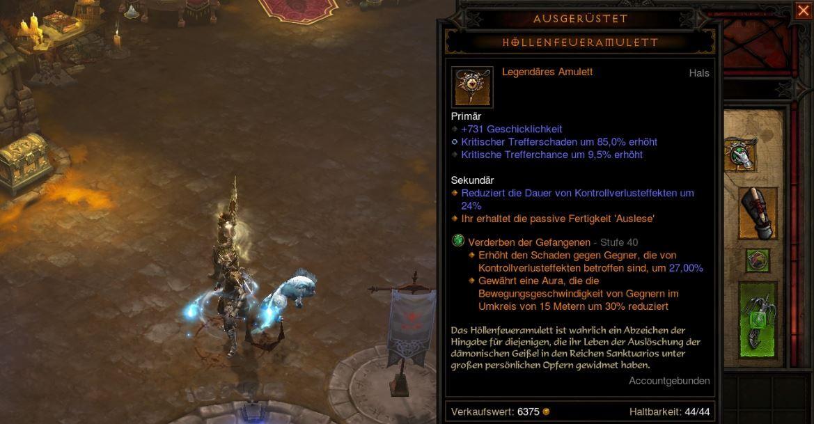 Diablo 3 Höllenfeueramulett (Hellfire Amulet) Guide