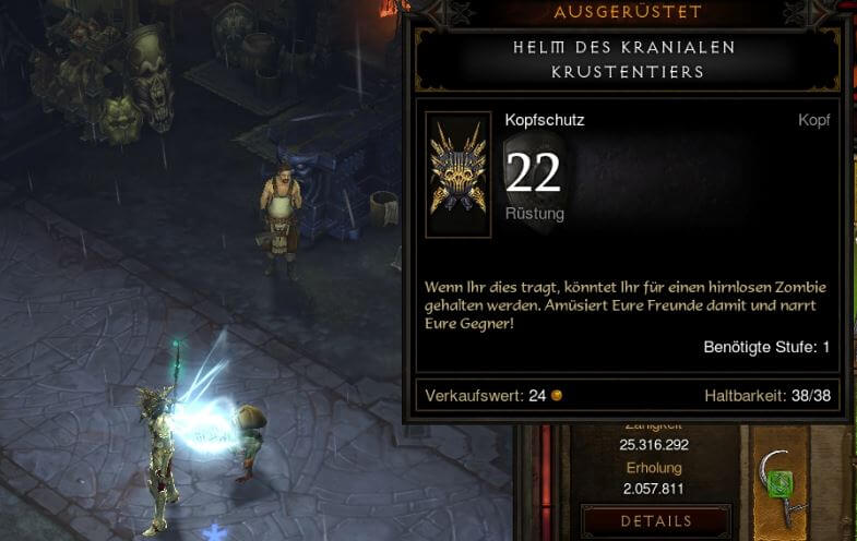 Diablo 3 Helm des kradialen Krustentiers Transmog (Half Life)